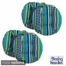 blazing needles 16x16 inch round patterned outdoor chair cushions