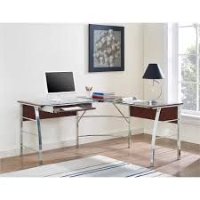 Ameriwood L Shaped Desk Assembly by Ameriwood Furniture Wingate Glass Top L Desk Cherry