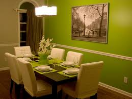 Palatial Lime Green Dining Room Wall Painted Color Schemes In Small Space Added White Upholstery Chairs Set And Table Decors Ideas
