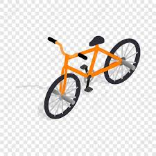 Orange Bike Isometric Icon 3d On A Transparent Background Vector Illustration Stock