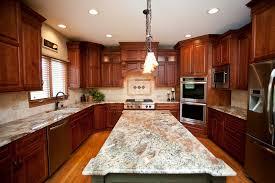 beautiful woodridge kitchen remodel cherry cabinets in shaker