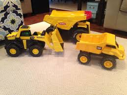 Find More 2 Steel Tonka Trucks & 1 Plastic Cat Truck - $30 For Set ...