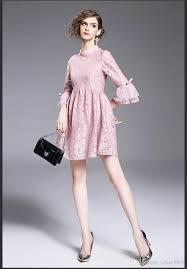 cute women dress summer style 2017 elegant pink pretty party dress