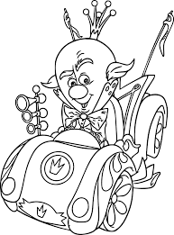 King Candy Car Coloring Page