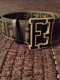 fendi belt men u0027s pre owned double f logo buckle brown u0026 black