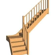 escalier 1 4 tournant petit palier en hévéa lamel c