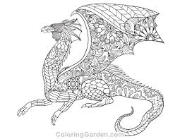 Free Printable Dragon Adult Coloring Page Download It In PDF