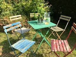 Vintage Metal Folding Garden Table Set With 5 Chairs Industrial Shabby Chic  | In Brighton, East Sussex | Gumtree Lumisource Oregon High Back 5piece Vintage White And Aqua Small Farmhouse Table Set With Bench Metal 12ft Upcycled Board Table 12 Vintage Metal Chair Set 170 Wooden Hire Company Chairs Looking Restoration Painted Patio Fniture Modern Inspiring Chairs Stock Image Image Of Iron Old Fniture In Garden Natural Green Background Garden E6 Ldon For 8000 Sale Shpock Retro Porch Home Decor Ideas Find Great Outdoor Seating Folding Pastel Blue At Scaramanga