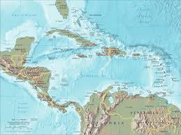 Central America And The Caribbean Detailed Pdf Map