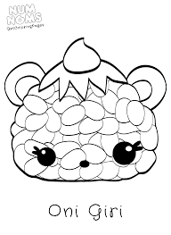 Sushi Oni Giri NumNoms Coloring Sheets