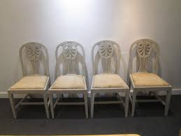 A Set Of 8 19thC Painted Dining Chairs How To Transform A Vintage Ding Table With Paint Bluesky Pating My Antique Six Edwardian French Painted Chairs 364060 19th Century Country Set Of 6 Balloon Back Good 1940s Faux Bamboo Eight 1920s Pair Regency 2 Side White Chippy Chair Early 20th Louis Xvi Chairsset 8 Abc Carpet Home Style Fniture And European Buy Cheap Punched Wood Handpainted
