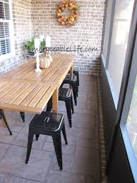 Narrow Patio Dining Table