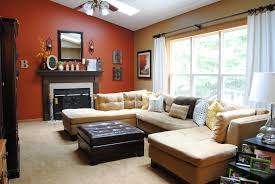 Warm Colors For A Living Room by Living Room Makeover Reveal Jenna Burger