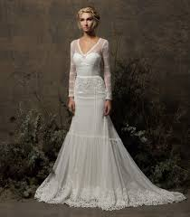 olga long sleeve lace wedding dress dreamers and lovers