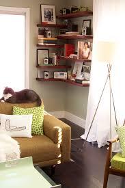 Living Room Empty Corner Ideas by Corner Shelves A Home West