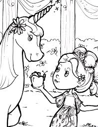 Free Downloadable Coloring Sheet Princess And The Unicorn