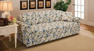 Stretch Slipcovers For Sofa by 25 Country Print Slipcovers For Sofas Blue Floral Flower Jersey