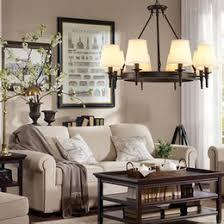 Pendant Lighting American Country Living Room Lights Led Chandelier Modern Loft Simple Iron Dining Bedroom Study