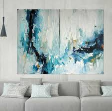 Hand Painted Large Original Painting Abstract Art Acrylic On Canvas XL