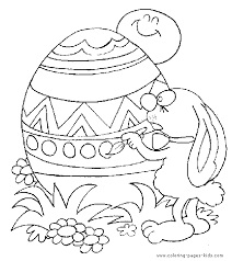 Easter Bunny Painting An Egg Color Page