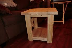 furniture small end table plans free 74 rustic x end table diy