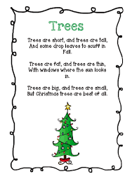The Very Busy Classroom Free Poem About Christmas Trees Poems Tree
