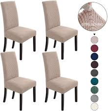 NORTHERN BROTHERS Dining Room Chair Slipcovers Dining Chair Covers Parsons  Chair Slipcover Stretch Chair Covers For Dining Room Set Of 4,Khaki Xiazuo Ding Chair Slipcovers Stretch Removable Covers Set Of 6 Washable Protector For Room Hotel Banquet Ceremonywedding Subrtex Sets Fniture Armchair Elastic Parsons Seat Case Restaurant Breathtaking Your Home Idea How To Sew A Slipcover The Ikea Henriksdal Hong Elegant Spandex Chairs Office Grey 4 Chun Yi Waterproof Jacquard Polyester Small Checks Antistain 2 Linen Store Luxurious Damask Cover Form Fitting Soft Parson Clothman Printed High Elasticity Fashion Plaid Kitchen 4coffee Subrtex Dyed Pieces Camel Leanking Knit Fabric Decor Beige Pcs Leaf Stretchable 1 Piece Yellow