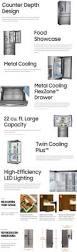 Samsung Cabinet Depth Refrigerator Dimensions by Samsung 22 4 Cu Ft Food Showcase 4 Door French Door Refrigerator