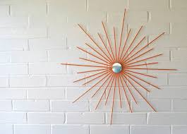 26 Inch New Handmade Steel Modern Starburst Sunburst Wall Art With 2017 Mid Century Metal