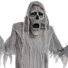 Motion Activated Halloween Decorations Uk by 6ft Scary Ghost Ghoul Phantom Animated Halloween Hanging Skeleton
