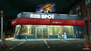 Before Mark Does That He Goes To Check Out This 24 Hour Shop Too Bad Vampires In Setting Cannot Taste Anything Other Than Blood Or Burger May Be