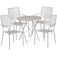 30'' Round Light Gray Indoor-Outdoor Steel Folding Patio Table Set With 4  Square Back Chairs Oakville Fniture Outdoor Patio Rattan Wicker Steel Folding Table And Chairs Bistro Set Wooden Tips To Buying China Bordeaux Chair Coffee Fniture Us 1053 32 Off3pcsset Foldable Garden Table2pcs Gradient Hsehoud For Home Decoration Gardening Setin Top Elegant Best Collection Gartio 3pcs Waterproof Hand Woven With Rustproof Frames Suit Balcony Alcorn Comfort Design The Amazoncom 3 Pcs Brown Dark Palm Harbor Products In Camping Beach Cell Phone Holder Roof Buy And Chairswicker Chairplastic Photo Of Green Near 846183123088 Upc 014hg17005 Belleze