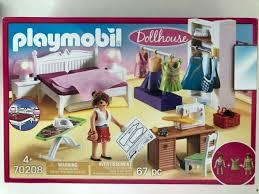 playmobil dollhouse schlafzimmer mit nähecke 67 stück 70208