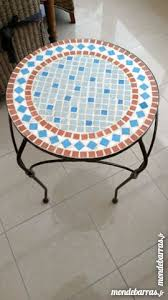 table ronde mosaique fer forge table ronde mosaique clasf
