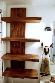 3 tier wood wall shelf wanddeko holz regal badezimmer regal