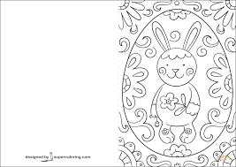 Click The Easter Doodle Card With Bunny Coloring Pages To View Printable Version Or Color It Online Compatible IPad And Android Tablets