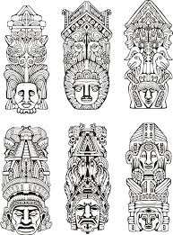 Dessin Totem Tiki Belle Coloriage Serpent The 25 Best Tiki Head