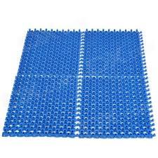 H2XD DIY Anti Slip Shower Bath Mat w Massage Function Blue 4