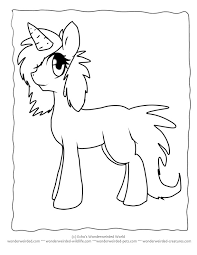 Cartoon Unicorn Coloring Pages Echos