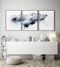 set of 3 prints mountains wall alps photo mountains