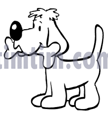 Free Drawing Of A Dog Bone BW2 From The Category Pets