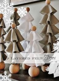 Layered Felt Trees