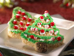 Rice Krispie Christmas Tree Pops by Kellogg U0027sâ Rice Krispies Treatsâ Christmas Trees Recipe Myrecipes