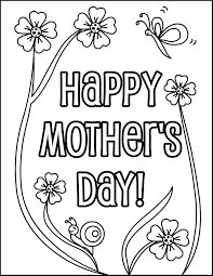 Happy Mothers Day Coloring Pages Sheets To Print