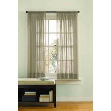 better homes and gardens rod pocket crushed voile drapery panel