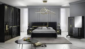 schlafzimmer set beata 160x200 in schwarz gold yatego