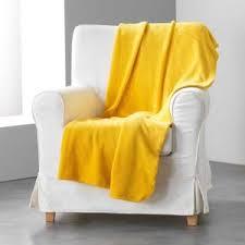 jeté de canapé jaune jete de lit jaune achat vente pas cher
