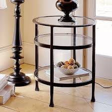 noir provence side table in brown and black