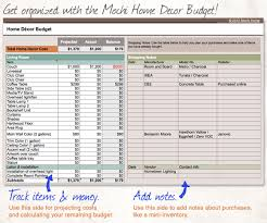 Get This Spreadsheet Home Decor Budget