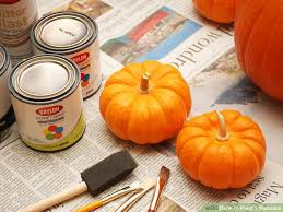 Preserving A Carved Pumpkin by How To Paint A Pumpkin 10 Steps With Pictures Wikihow